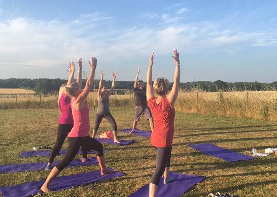 yoga classes outdoors, Bradfield St George, Bury St Edmunds