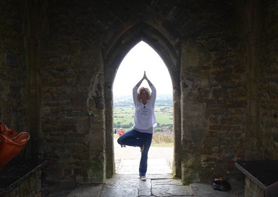 Sarah yoga pose