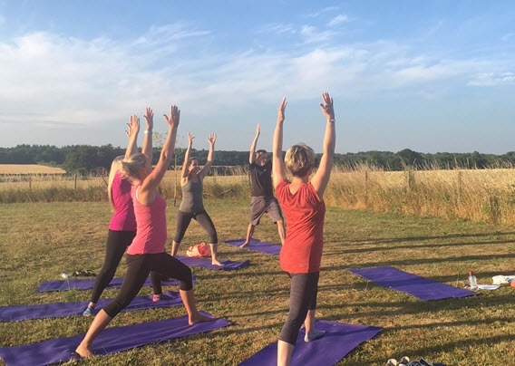yoga classes outdoors, Bradfield St George, Bury St Edmunds