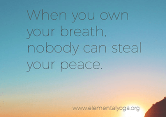 own your breathe in yoga